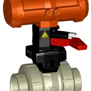 PP-H Pneumatic Actuated Valves