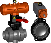 PVC-U Pneumatic Actuated Valves